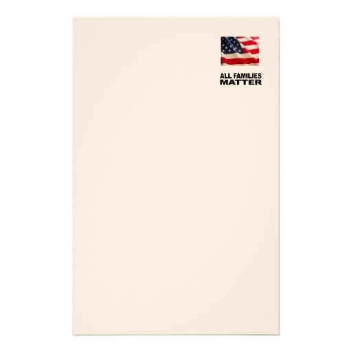 All families matter stationery paper