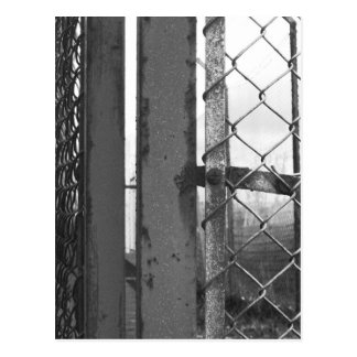 All fenced in postcard