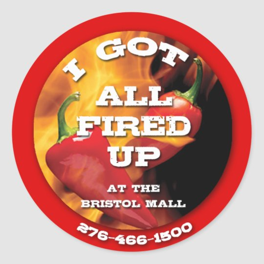 All Fired Up Sticker copy