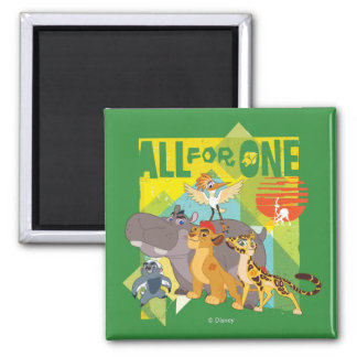 All For One Lion Guard Graphic 2 Inch Square Magnet