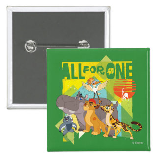 All For One Lion Guard Graphic Button