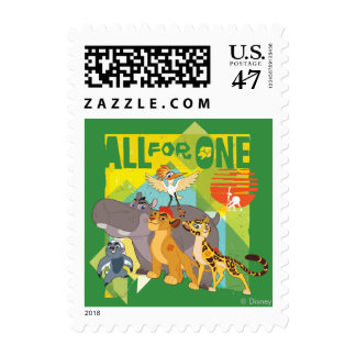All For One Lion Guard Graphic Postage