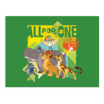 All For One Lion Guard Graphic Postcard