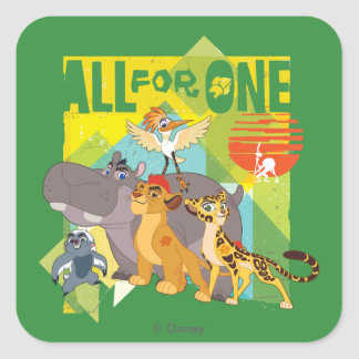 All For One Lion Guard Graphic Square Sticker