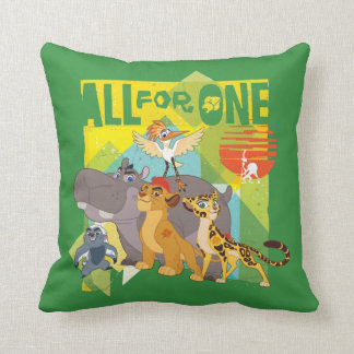 All For One Lion Guard Graphic Throw Pillow
