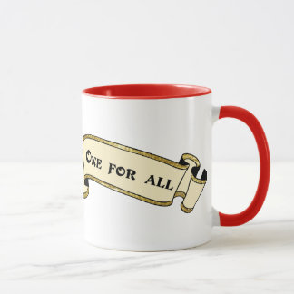 All For One, One For All banner mug