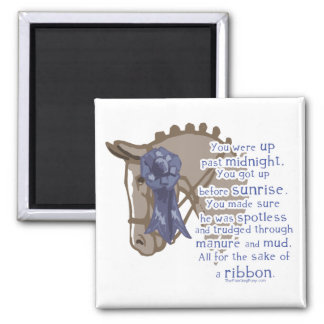 All For The Ribbon 2 Inch Square Magnet