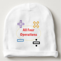 All Four Operations Baby Beanie