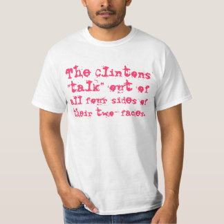 All four sides of the Clintons two-faces Shirt