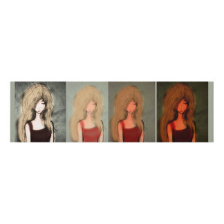 all four sleepy Janettes Panel Wall Art