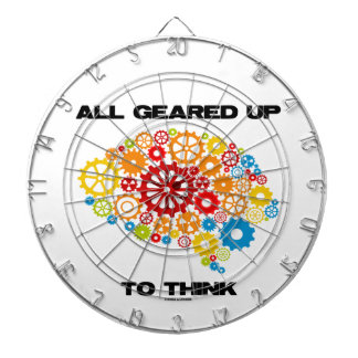 All Geared Up To Think (Brain Gears) Dartboard