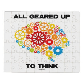All Geared Up To Think Brain Gears Psyche Engineer Jigsaw Puzzle