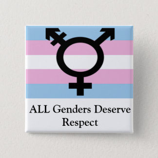 All Genders Deserve Respect Pinback Button