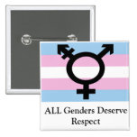 All Genders Deserve Respect Pinback Button