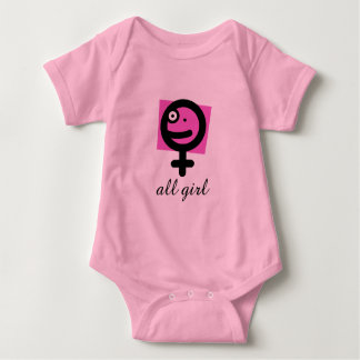 All Girl Baby Bodysuit