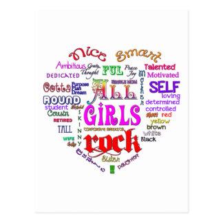 All Girls Rock Postcard