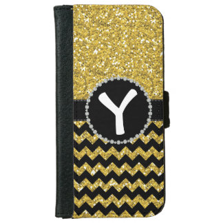 All Glitter Yellow, Diamond Ribbon Flap Wallet iPhone 6 Wallet Case