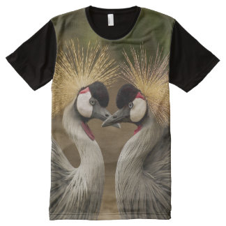 All God's Creatures Grey Crowned Cranes Print All-Over-Print Shirt