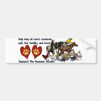 All Gods Creatures Humane Society Bumper Sticker