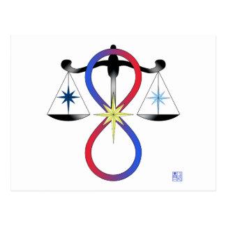 All Gods Universal Power Color - Religious Symbol Postcard