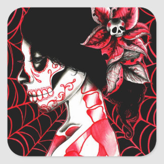 All Gone Dead by Carissa Rose Square Sticker