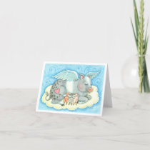 ALL GOOD PIGLETS GO TO HEAVEN NOTE CARD Blank
