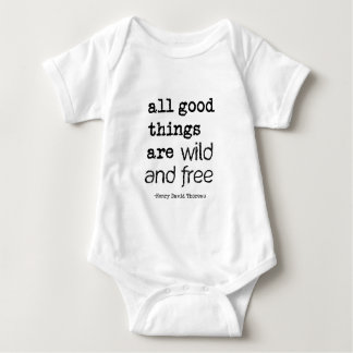 All Good Things Are Wild and Free Baby Bodysuit