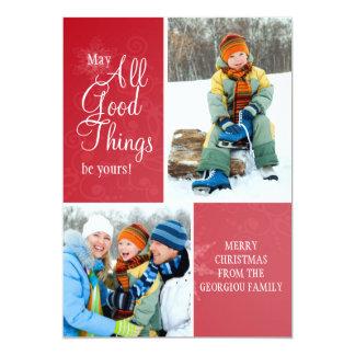 All Good Things Holiday Photo Card