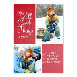 All Good Things Holiday Photo Card Invites