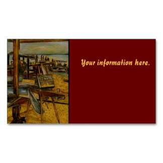 All Great Paintings Start with One Brush Stoke Business Card Magnet