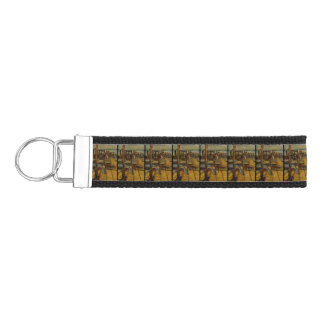 All Great Paintings Start with One Brush Stoke Wrist Keychain