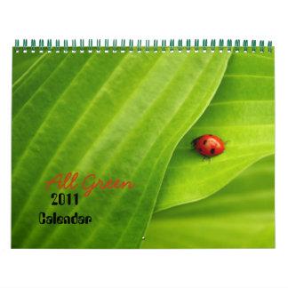 All green 2011 Calendar