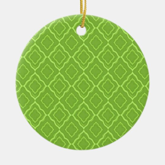 All green! ceramic ornament