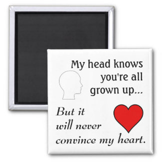 "All Grown Up 2"" Square Magnet"