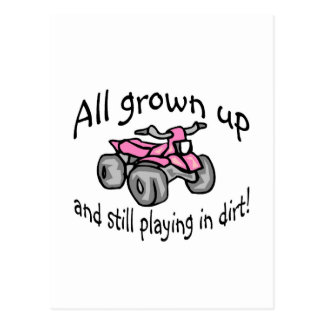 All Grown Up And Still Playing In Dirt Girls Postcard