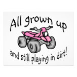All Grown Up And Still Playing In Dirt Girls Quad Personalized Invite