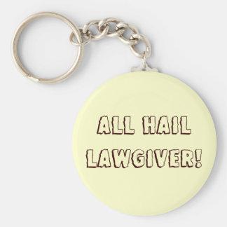 All Hail Lawgiver! Basic Round Button Keychain