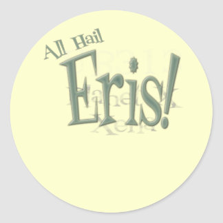 All Hail Planet Eris Classic Round Sticker