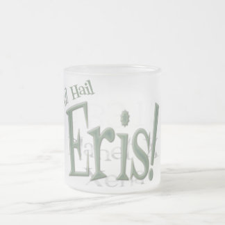 All Hail Planet Eris Frosted Glass Coffee Mug