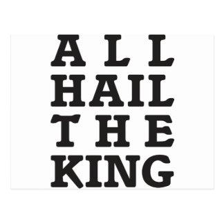 All Hail the King Postcard