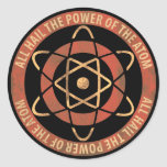 All Hail the Power of the Atom 1950s Logo Classic Round Sticker