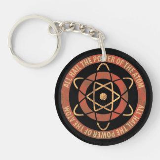 All Hail the Power of the Atom Retro Logo Double-Sided Round Acrylic Keychain