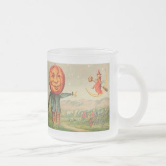 All Hallowe'en Greetings 10 Oz Frosted Glass Coffee Mug