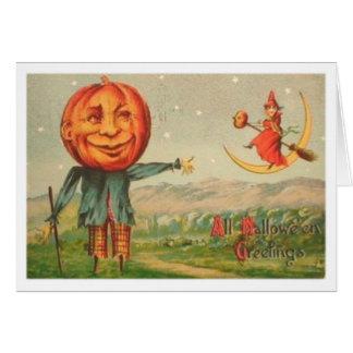 All Hallowe'en Greetings Greeting Card