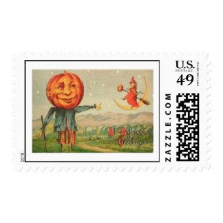All Hallowe'en Greetings Postage Stamp
