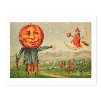 All Hallowe'en Greetings Postcard