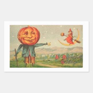All Hallowe'en Greetings Rectangular Sticker