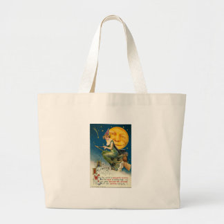 all halloween flying witch tote bags