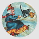 All Halloween Greetings Flying Witch Stickers