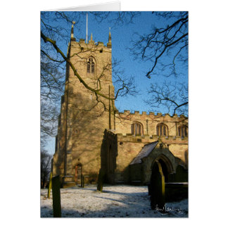 All Hallows Church, Harthill with Woodall. Card